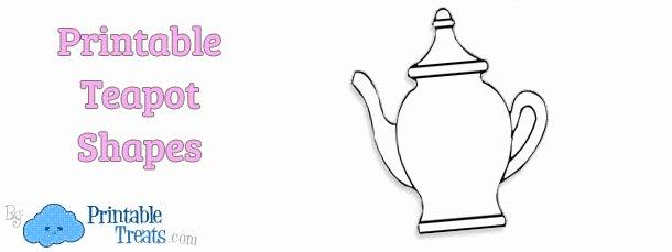 Teapot Template Printable Unique Printable Teapot Template — Printable Treats
