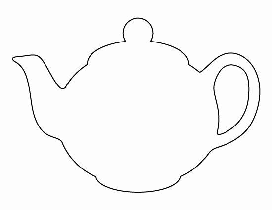 Teapot Templates Free Printable Awesome Drawn Teapot Patterned Pencil and In Color Drawn Teapot