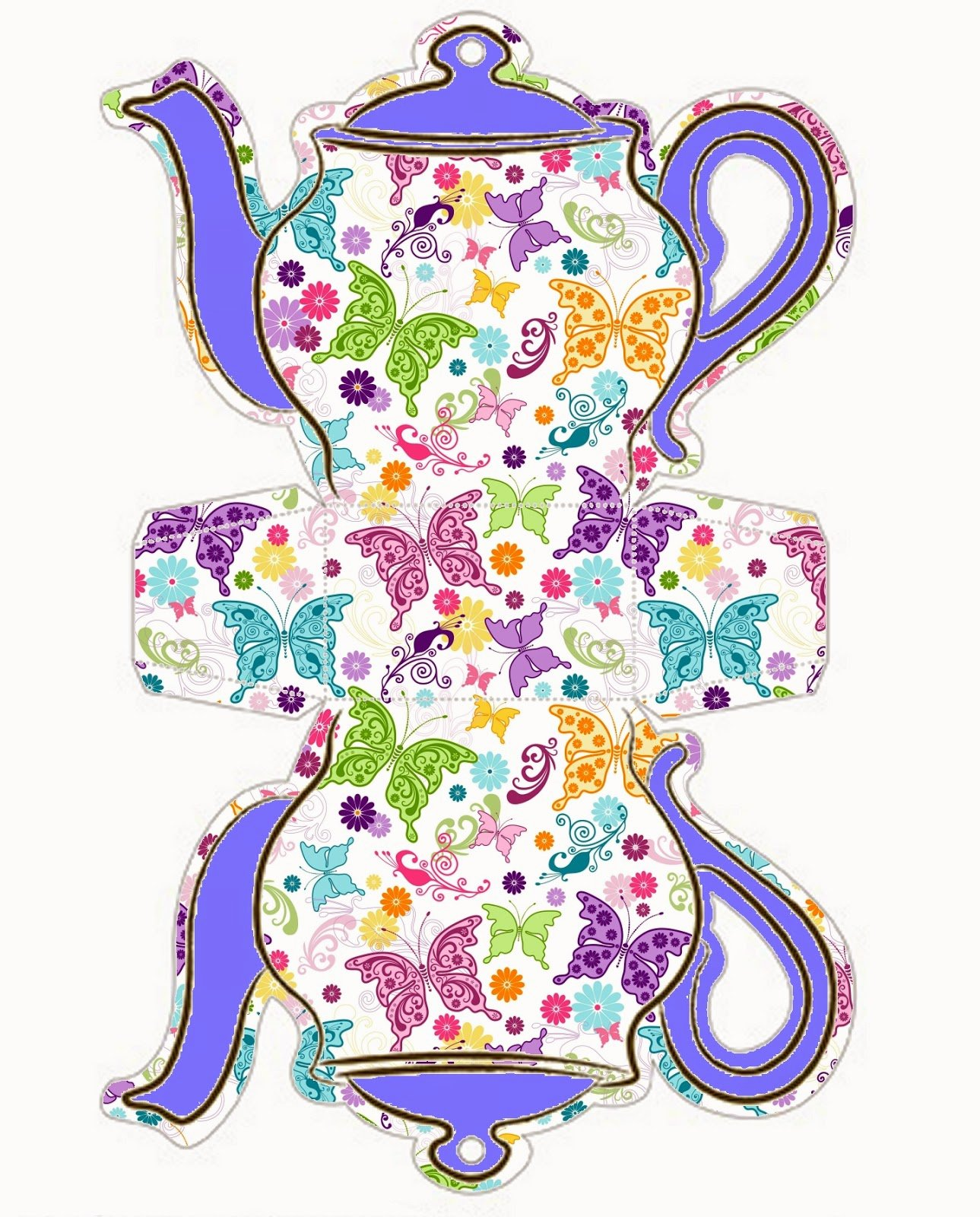 Teapot Templates Free Printable Best Of butterflies Teapot Free Printable Box