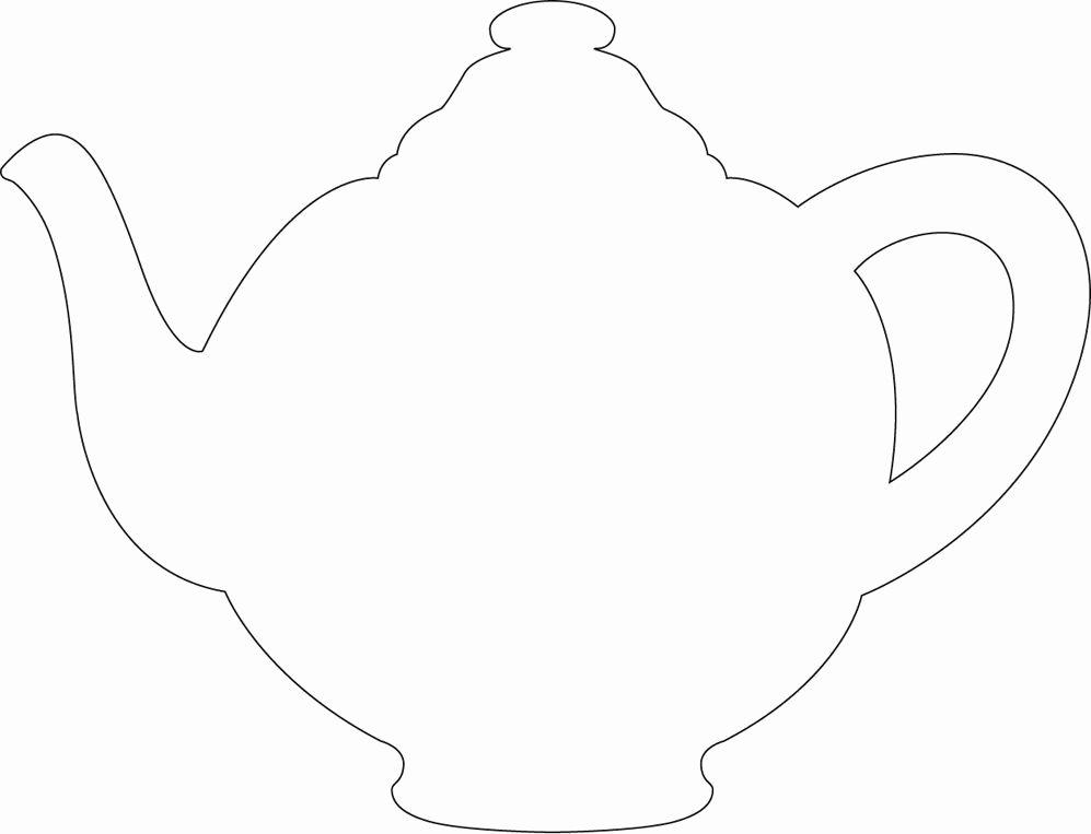 Teapot Templates Free Printable Elegant Printable Teapot Cut Out – Ezzy
