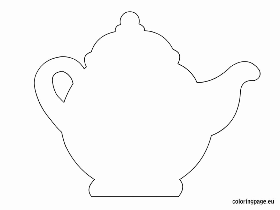 Teapot Templates Free Printable Elegant Teapot Coloring Page Crafts Mothers Day Certificate