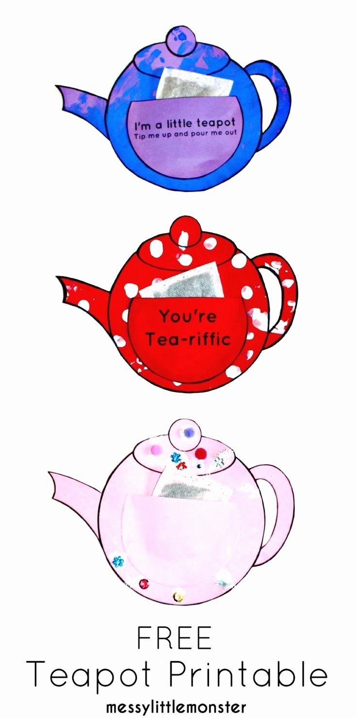 Teapot Templates Free Printable Fresh 23 Best Templates Images On Pinterest