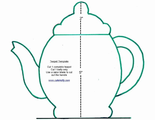 Teapot Templates Free Printable Fresh Teapot Template Printable Cake Ideas and Designs