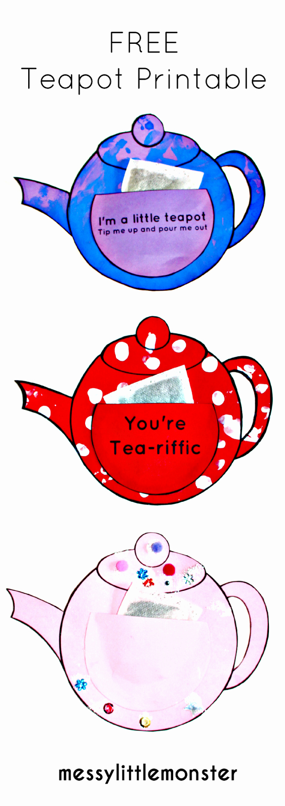 Teapot Templates Free Printable Fresh You Re Tea Riffic Teapot Craft Free Printable Teapot