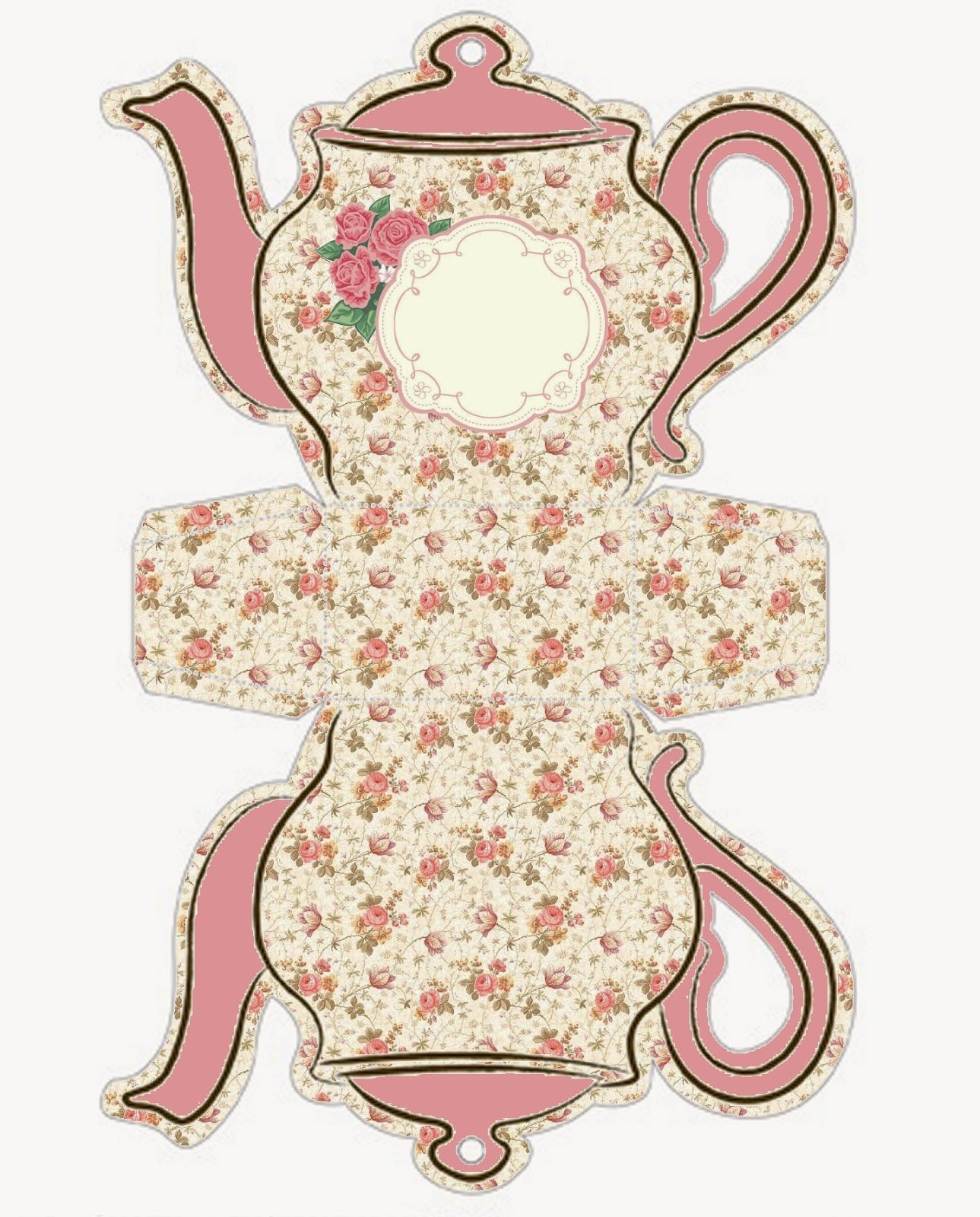 Teapot Templates Free Printable Unique Shabby Chic Teapot Free Printable Boxes