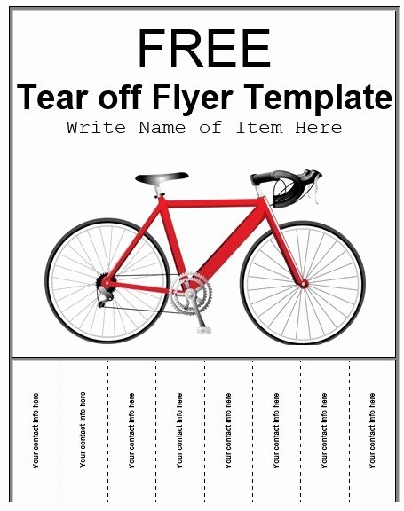 Tear Off Flyer Template Word Luxury 8 Free Sample Tear F Flyer Templates Printable Samples