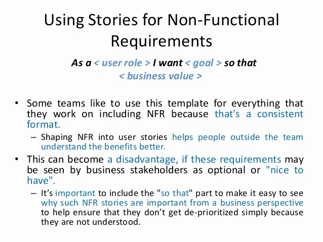 Technical Requirements Template Awesome User Stories In Agile software Development