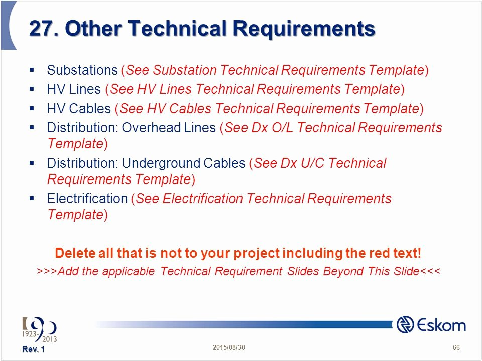 Technical Requirements Template Beautiful Presented by Charles Cudjoe Date Tef Date