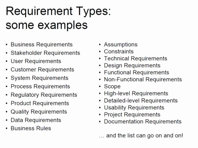 Technical Requirements Template Elegant Business Requirements Functional and Non Functional