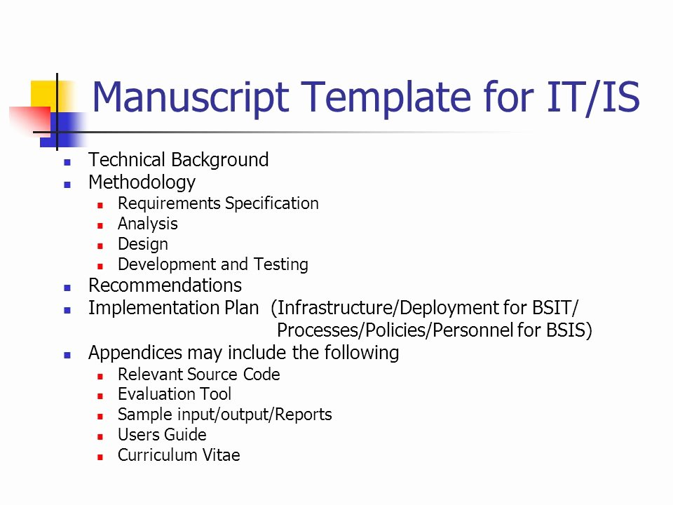 Technical Requirements Template New Framework for Cs It is Undergraduate thesis Project