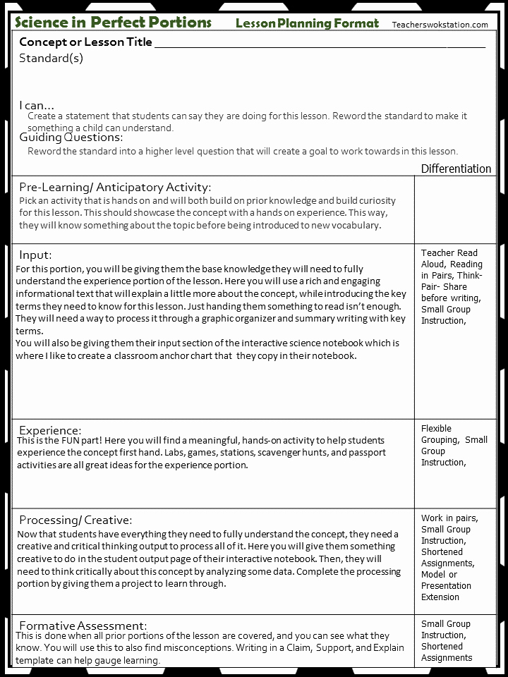 Teks Lesson Plan Template Unique Teks Lesson Plan Template Idealstalist