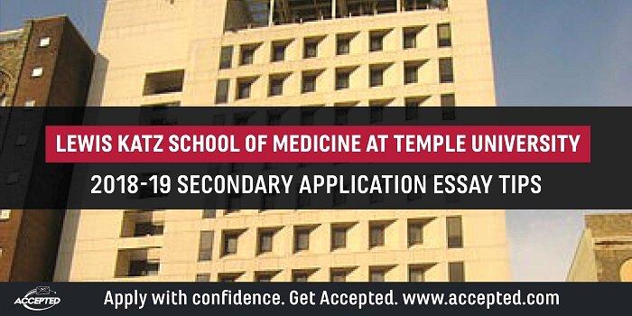 Temple University Essay Examples Unique Temple University School Of Medicine Application Essay