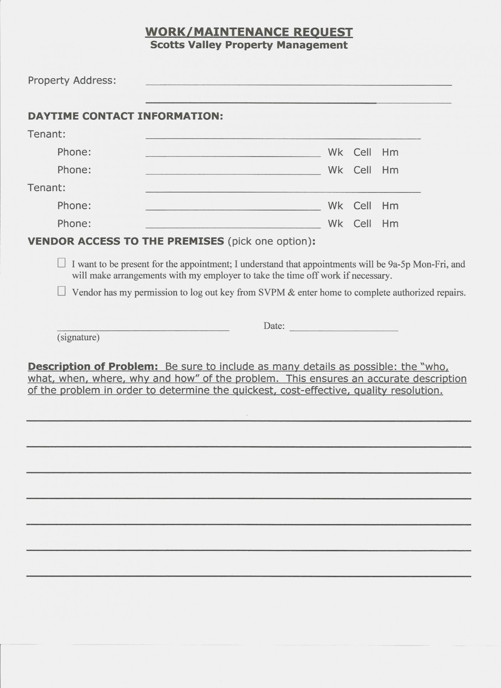 Tenant Maintenance Request form Template Beautiful Seven Important Facts that You Should Know