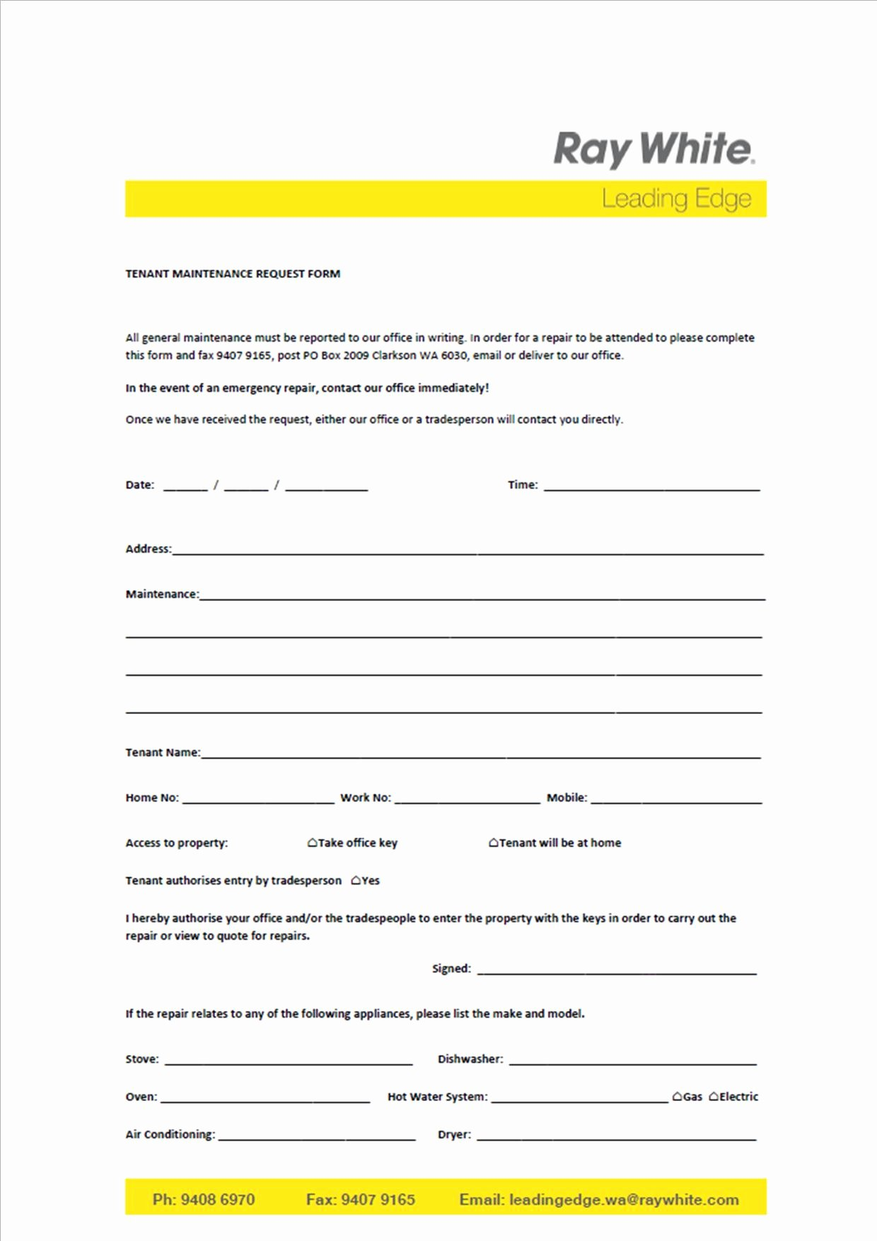 Tenant Maintenance Request form Template Best Of Sample I Follow Up Letter to Landlord with Instructions