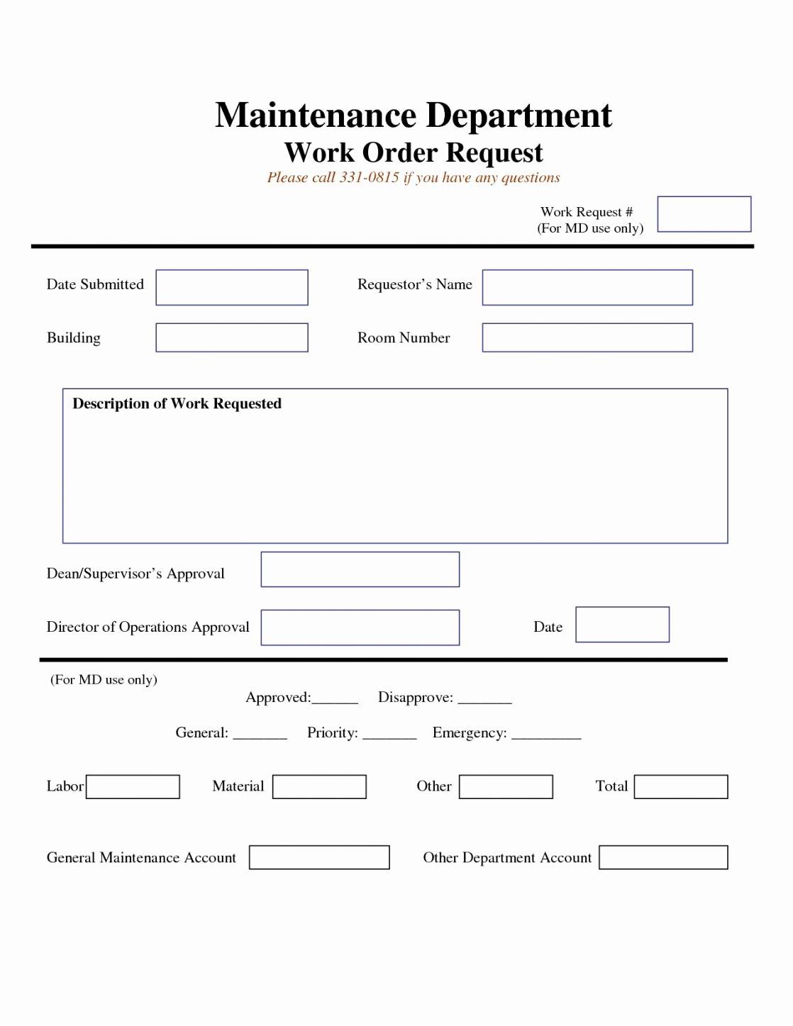 Tenant Maintenance Request form Template Inspirational Business form Template Amazing Tenant Repair Request form