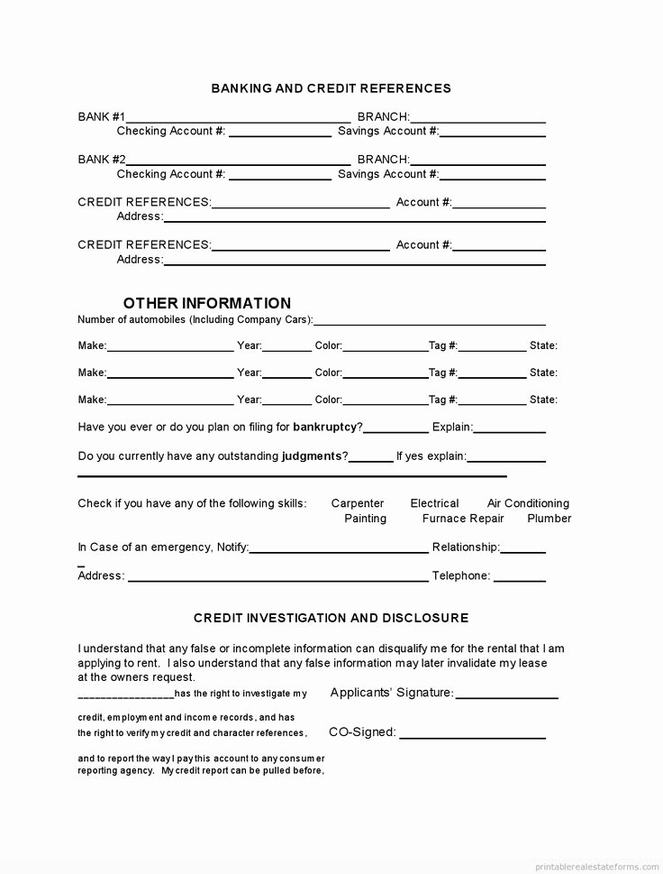 Tenant Maintenance Request form Template New Printable Tenant Rental Application Template 2015