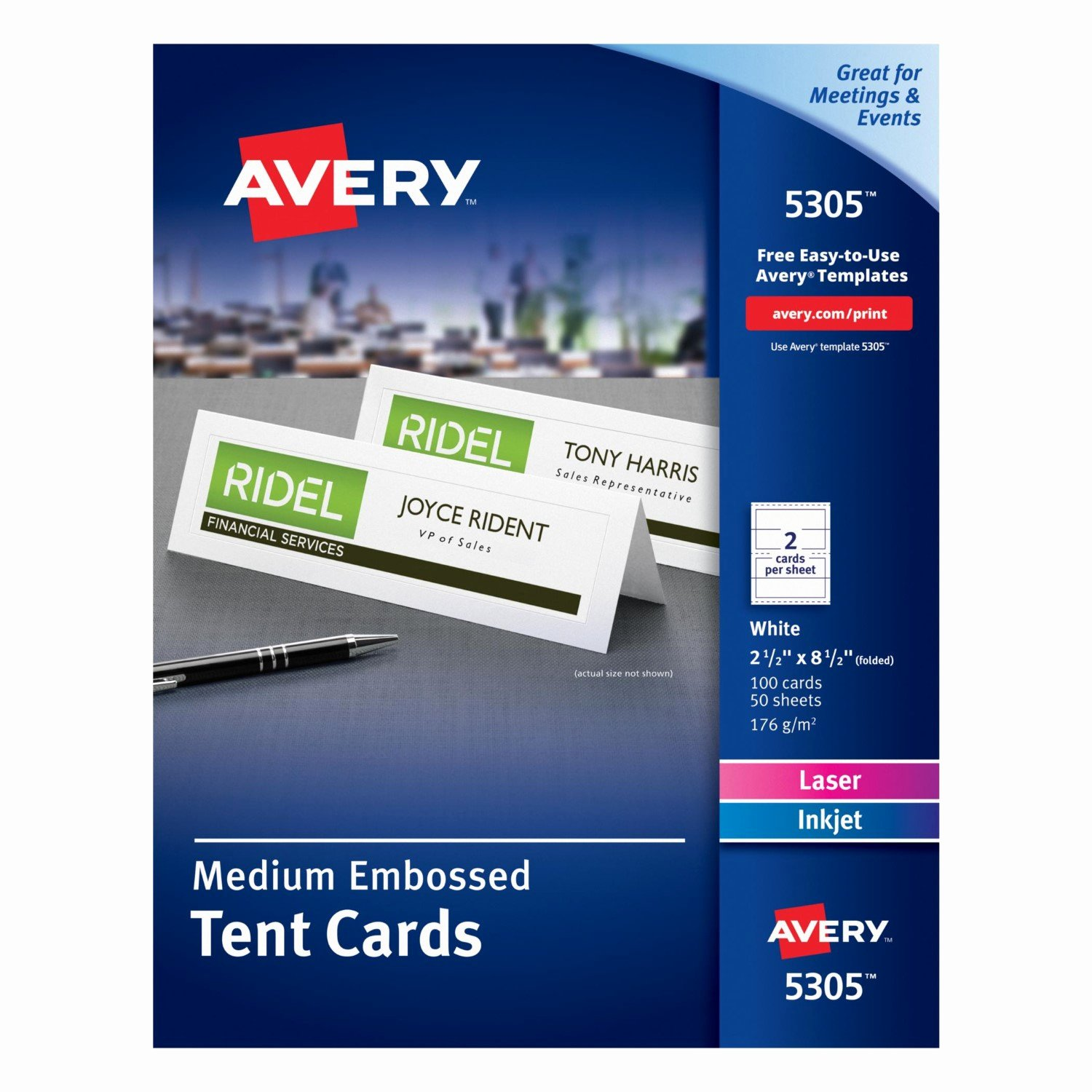 Tent Card Template 6 Per Sheet Best Of Avery Tent Cards 2 5 X 8 5 In White 100 Count 5305