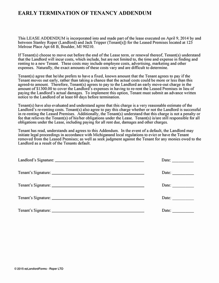 Termination Of Lease Agreement Template Beautiful Early Lease Termination Agreement