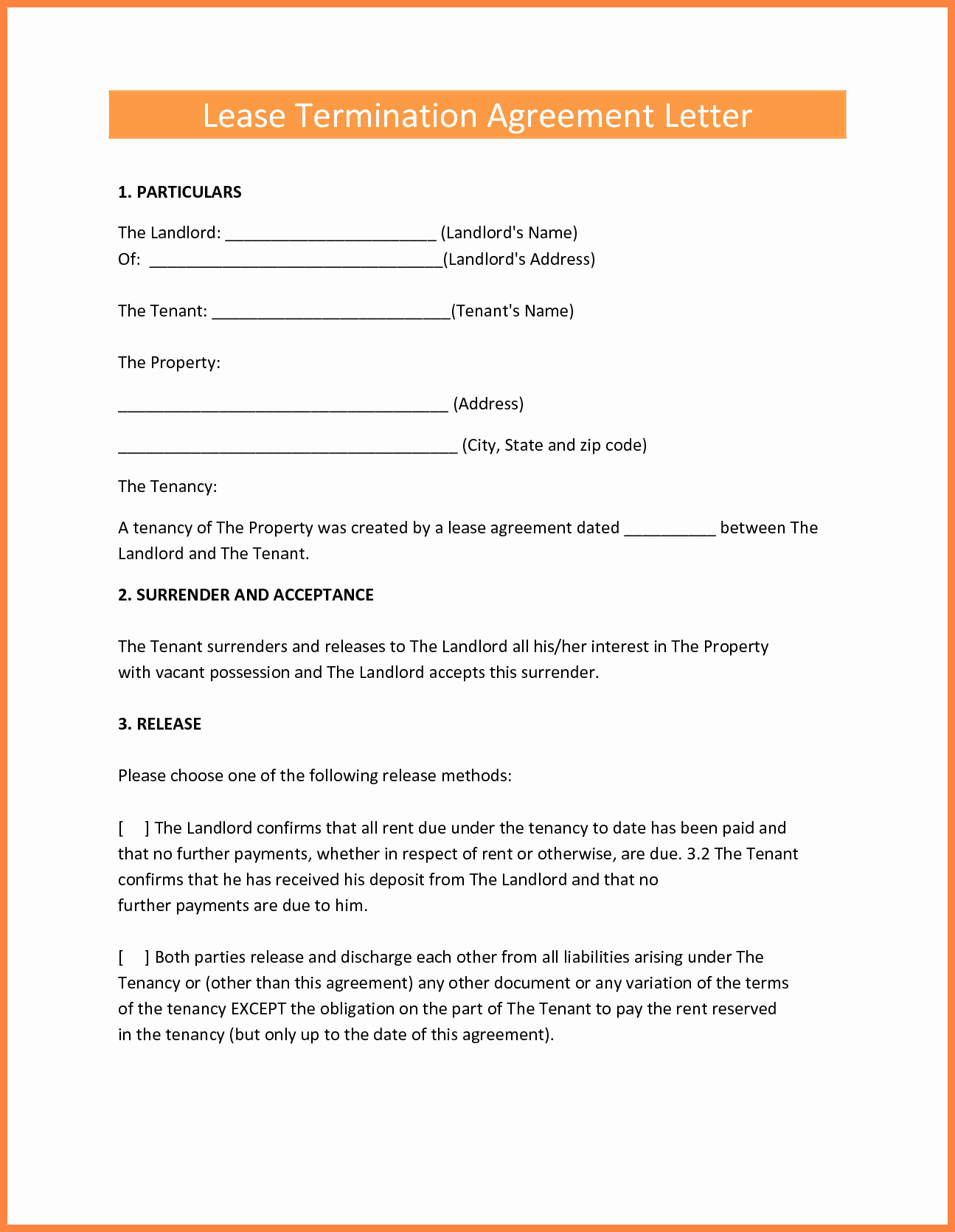 Termination Of Lease Agreement Template New 9 Termination Of Lease Agreement