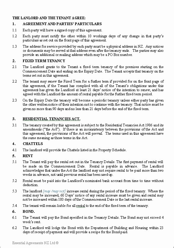 Terms Of Agreement Sample Awesome Personal – Leasing