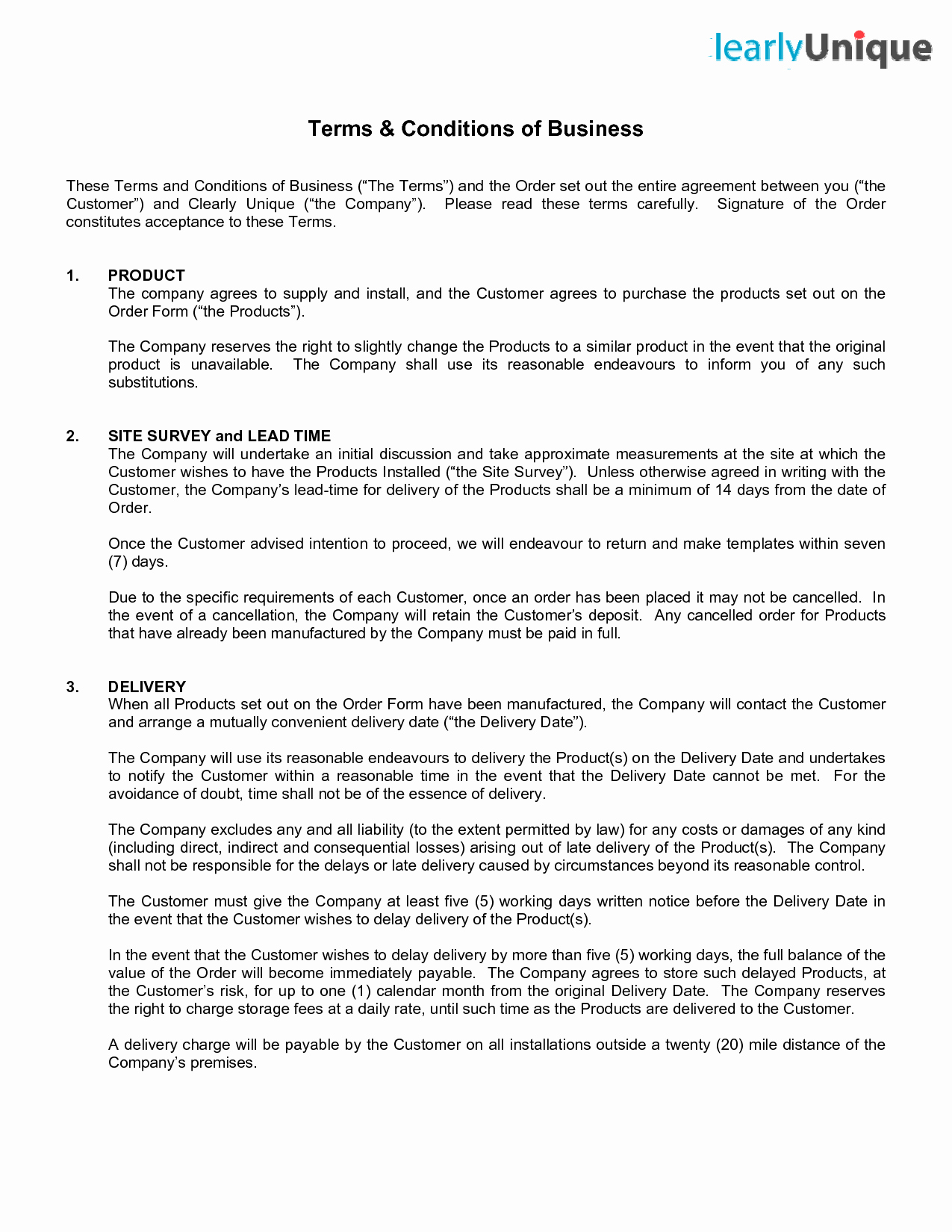 Terms Of Agreement Sample Awesome Terms and Conditions Template