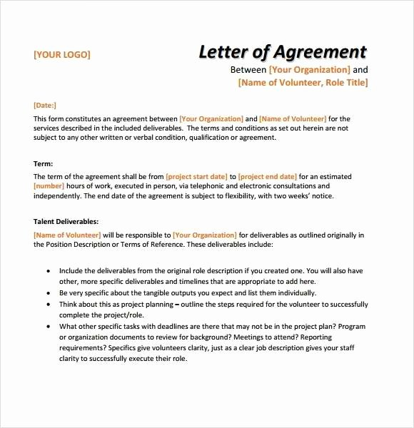 Terms Of Agreement Sample Best Of 12 Simple Agreement Letter Examples Pdf Word