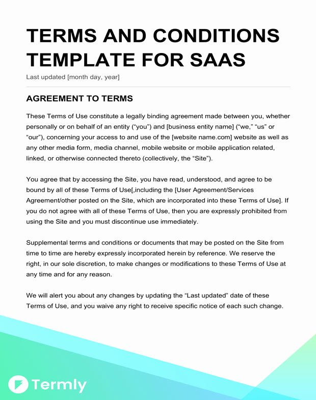 Terms Of Agreement Sample Best Of Free Terms & Conditions Templates