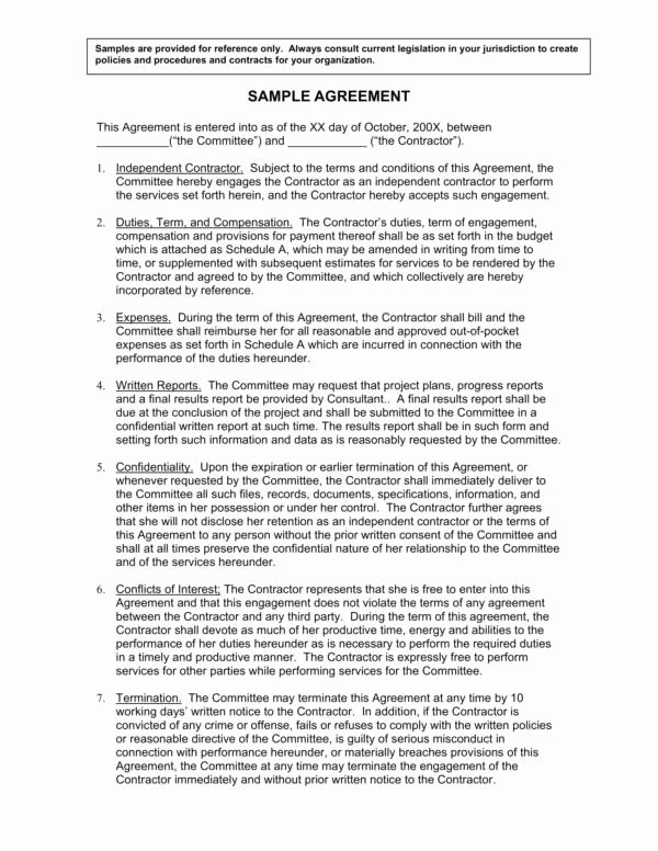 Terms Of Agreement Sample Inspirational 10 Pensation Agreement Template – Pdf
