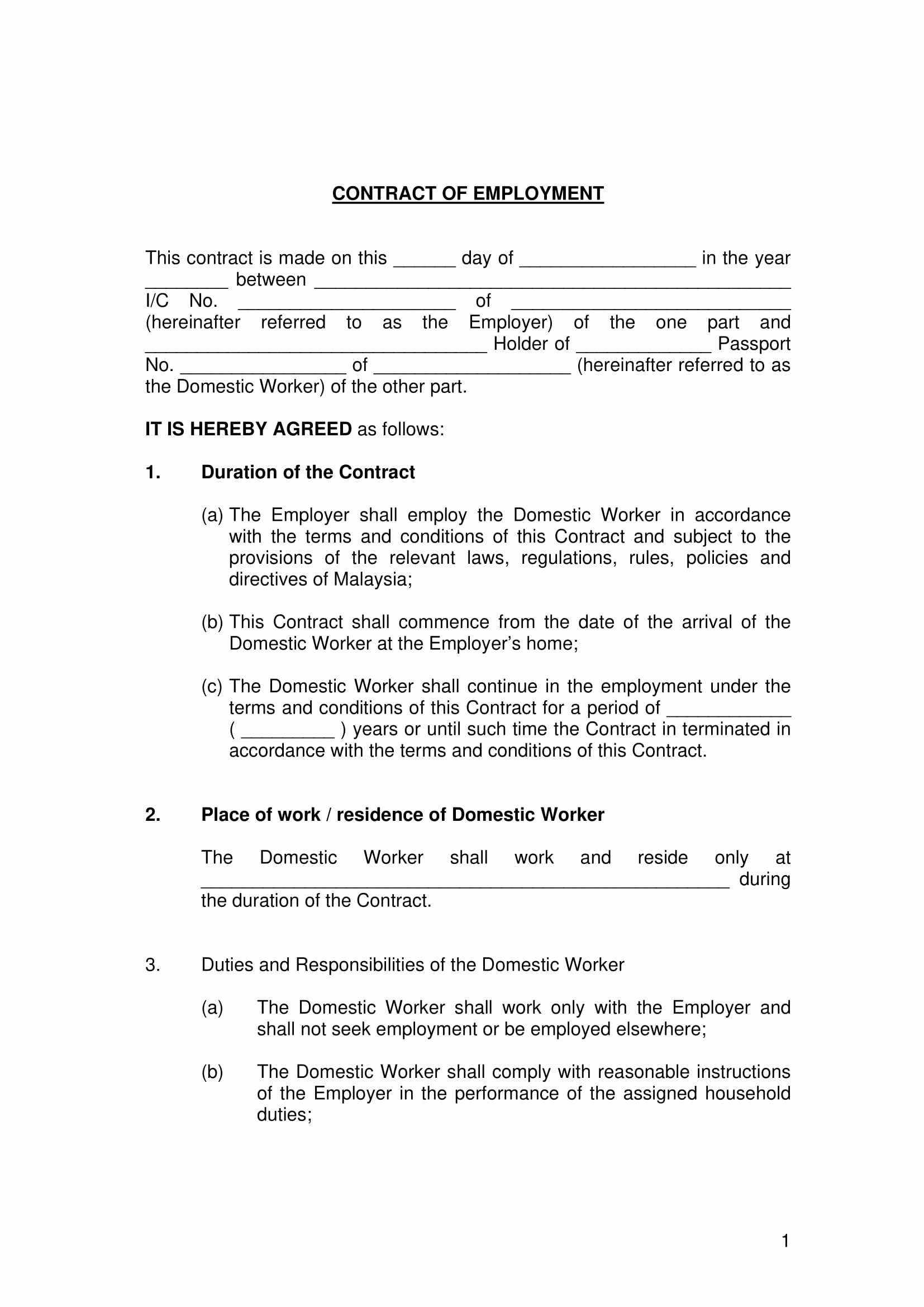 Terms Of Agreement Sample Inspirational 22 Examples Of Employment Contract Templates Word