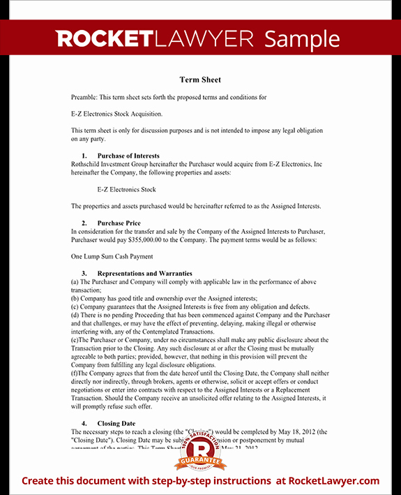 Terms Of Agreement Sample Lovely Term Sheet Template Sample Term Sheet