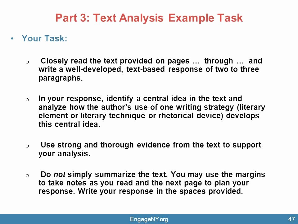 Text Analysis Response Examples Best Of Transition to Mon Core assessments Ppt Video Online