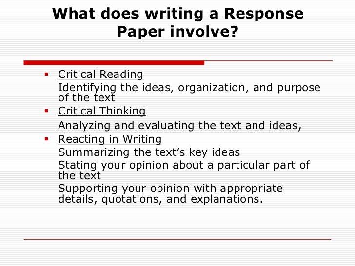 Text Analysis Response Outline Luxury How to Write A Reaction Response Paper