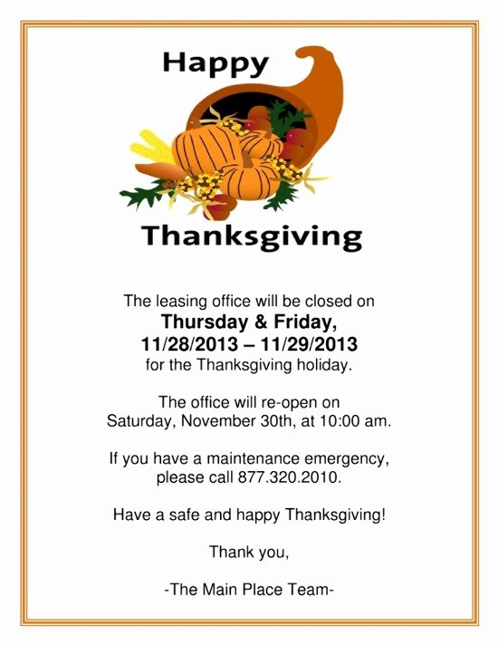 Thanksgiving Closed Sign Template Awesome Closed Printable Signs for Thanksgiving – Happy Easter