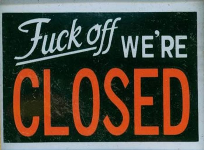 Thanksgiving Closed Sign Template Luxury Hilarious Closed Signs 12 Pics