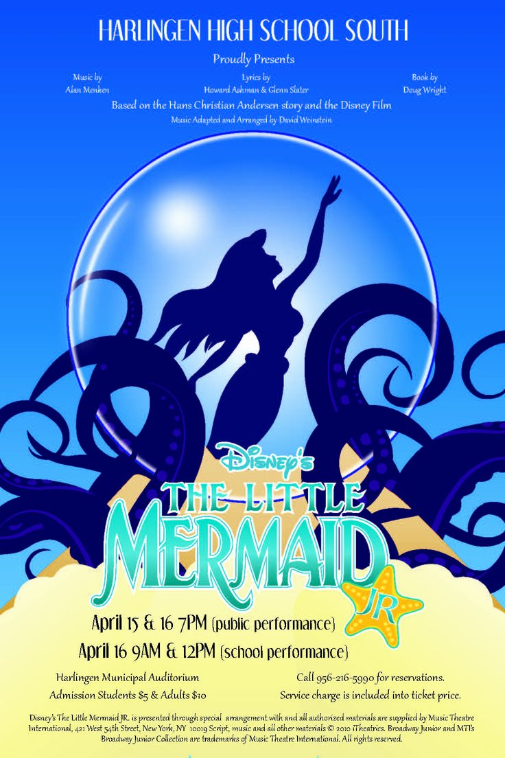 Theatre Program Template Awesome 1000 Images About Little Mermaid On Pinterest