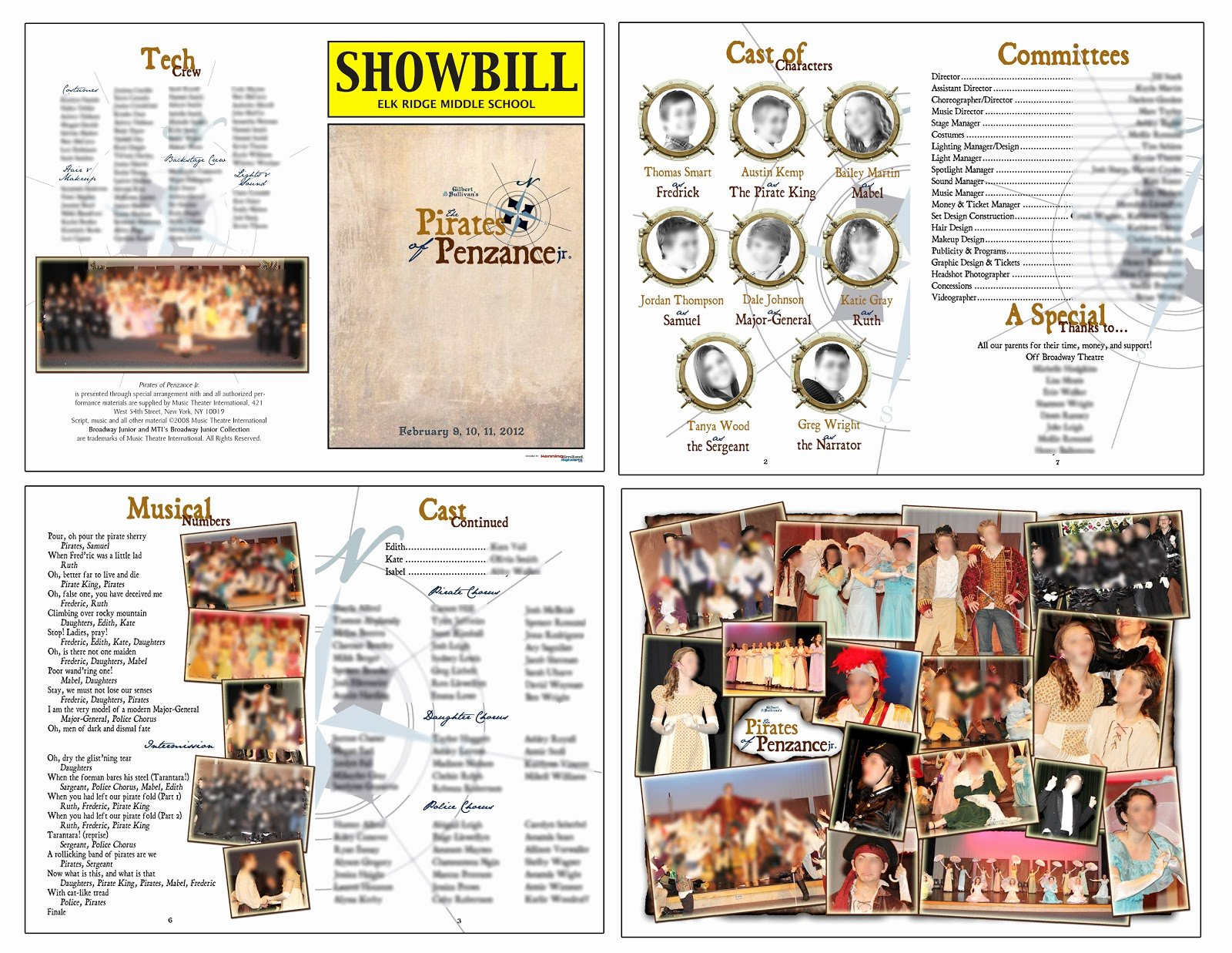 Theatre Program Template Awesome theater Production Program Template Free Filehydro