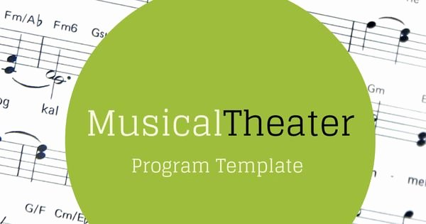 Theatre Program Template Best Of Free Musical theater Program Template — with Dummy