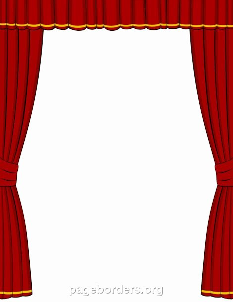Theatre Program Template Inspirational Printable Red Stage Curtain Border Use the Border In