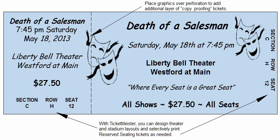 Theatre Program Template New Raffle Ticket Paper
