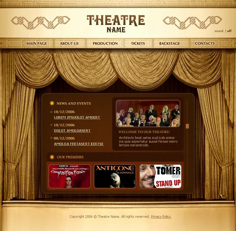 Theatre Program Template New theater Flash Template
