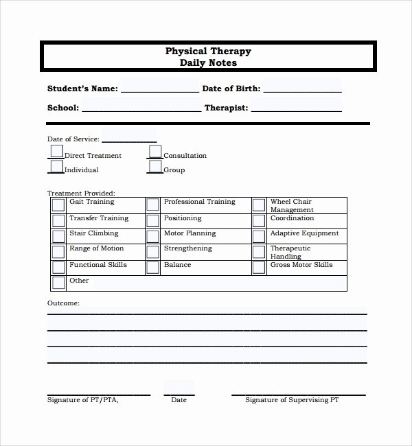 Therapy Progress Note Template Free Best Of 10 Daily Notes Templates