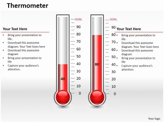 Thermometer Chart Powerpoint Best Of 0414 Column Chart In thermometer Style Powerpoint Graph