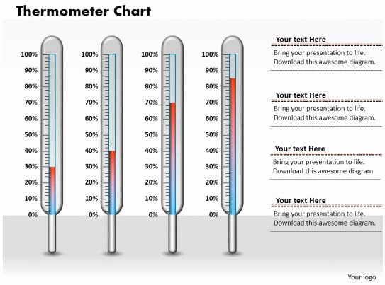 Thermometer Chart Powerpoint Best Of 0414 Design thermometer Column Chart Powerpoint Graph
