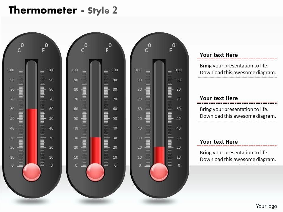 Thermometer Chart Powerpoint Best Of 0414 thermometer Designed Column Chart Powerpoint Graph