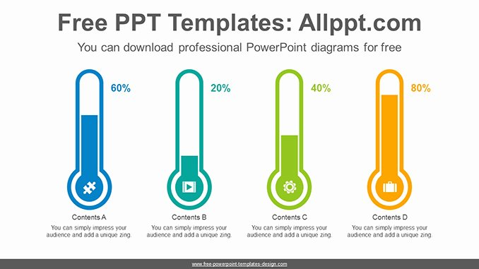 Thermometer Chart Powerpoint Elegant thermometer Bar Chart Powerpoint Diagram Template