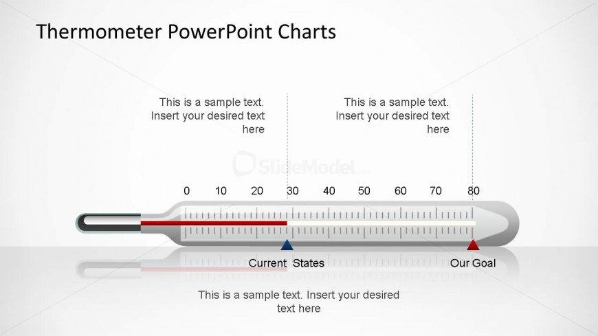 Thermometer Chart Powerpoint Fresh thermometer Horizontal Bar Chart for Powerpoint Slidemodel