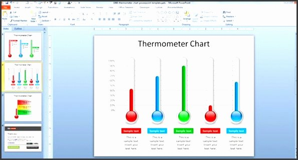 Thermometer Chart Powerpoint New 6 thermometer Goal Chart Template Sampletemplatess