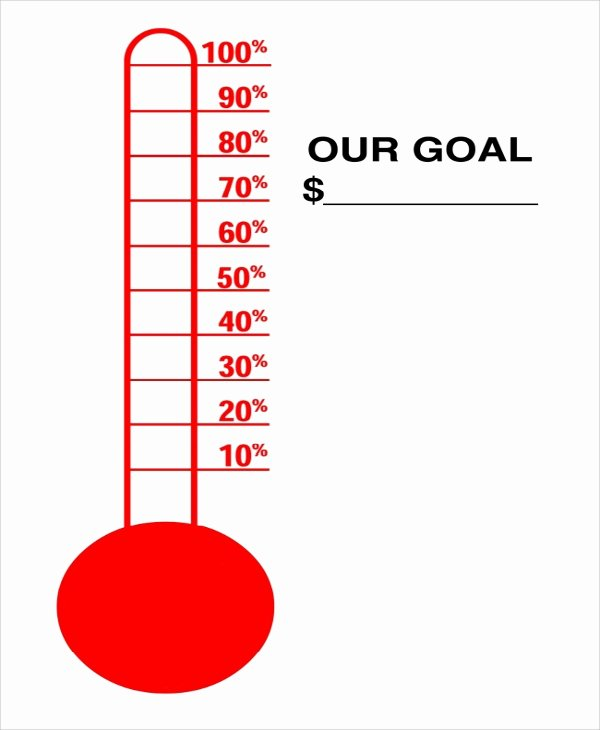 Thermometer Goal Chart Template Awesome 10 Sample thermometer Templates