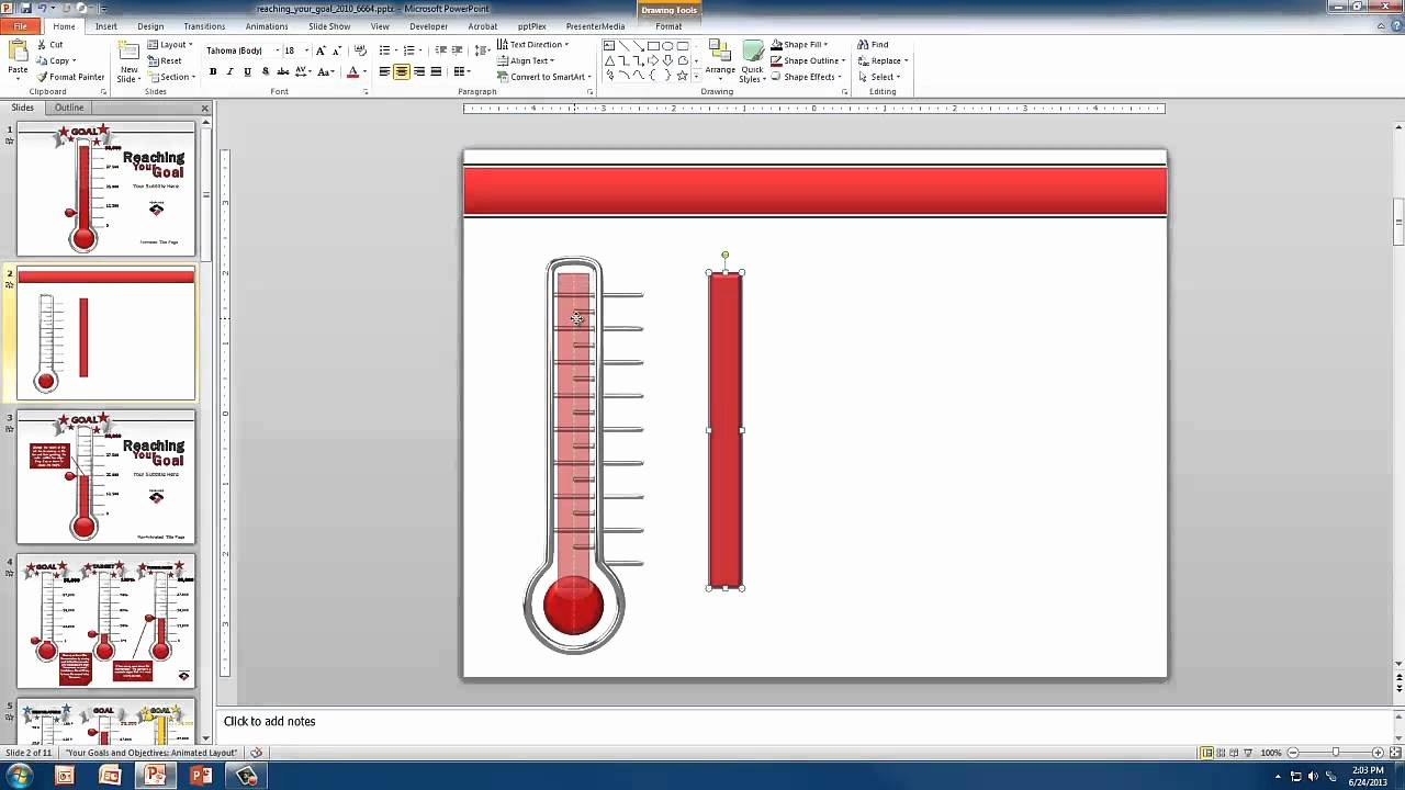 Thermometer Goal Chart Template Best Of Create A Custom thermometer