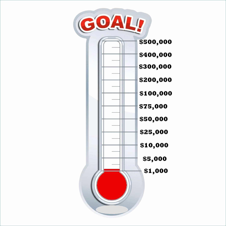 Thermometer Goal Chart Template Elegant Goal thermometer Template Professional Chart Excel